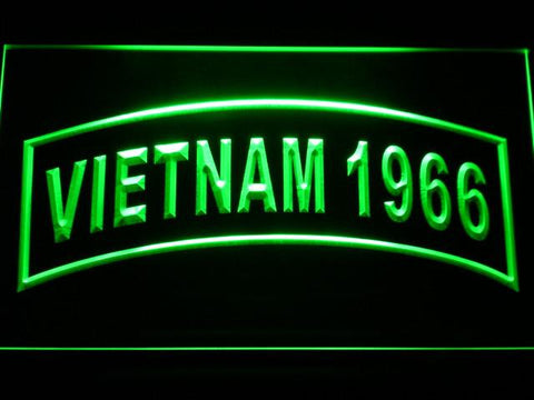 Image of US Army Vietnam 1966 LED Neon Sign - Green - SafeSpecial