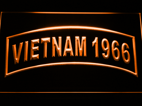Image of US Army Vietnam 1966 LED Neon Sign - Orange - SafeSpecial