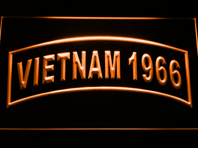 US Army Vietnam 1966 LED Neon Sign - Orange - SafeSpecial