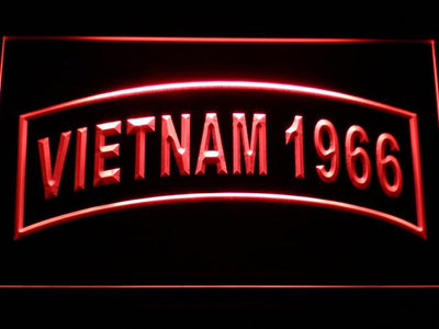 US Army Vietnam 1966 LED Neon Sign - Red - SafeSpecial
