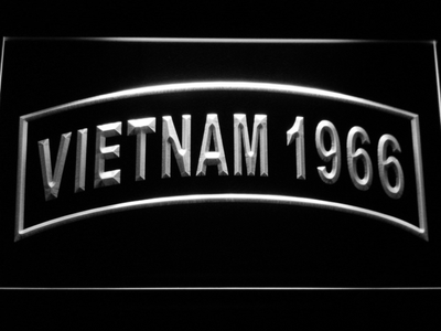 US Army Vietnam 1966 LED Neon Sign - White - SafeSpecial
