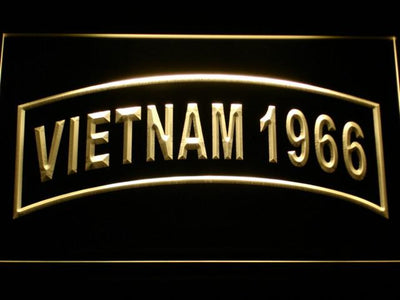 US Army Vietnam 1966 LED Neon Sign - Yellow - SafeSpecial