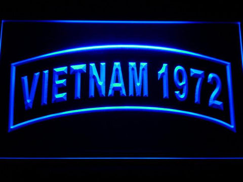 Image of US Army Vietnam 1972 LED Neon Sign - Blue - SafeSpecial