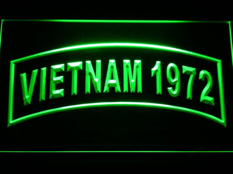 Image of US Army Vietnam 1972 LED Neon Sign - Green - SafeSpecial