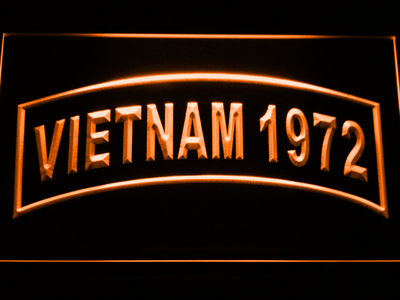 US Army Vietnam 1972 LED Neon Sign - Orange - SafeSpecial