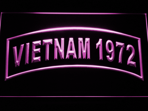 Image of US Army Vietnam 1972 LED Neon Sign - Purple - SafeSpecial
