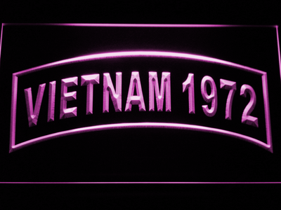 US Army Vietnam 1972 LED Neon Sign - Purple - SafeSpecial