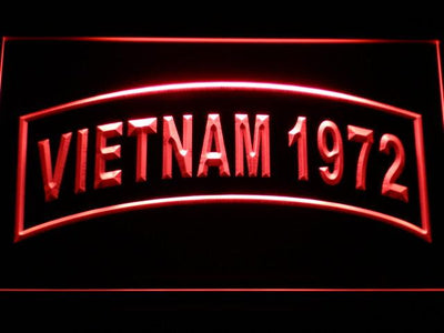 US Army Vietnam 1972 LED Neon Sign - Red - SafeSpecial