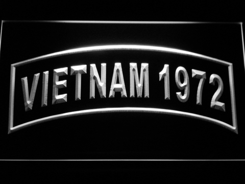 Image of US Army Vietnam 1972 LED Neon Sign - White - SafeSpecial