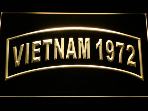Image of US Army Vietnam 1972 LED Neon Sign - Yellow - SafeSpecial
