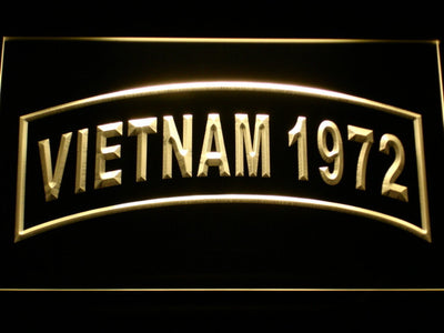 US Army Vietnam 1972 LED Neon Sign - Yellow - SafeSpecial