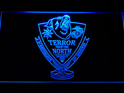 US Marine Corps 1st Battalion 24th Marines LED Neon Sign - Blue - SafeSpecial