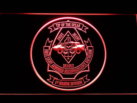 US Marine Corps 1st Light Armored Recon Battalion LED Neon Sign - Red - SafeSpecial