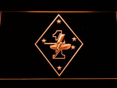 US Marine Corps 1st Tank Battalion LED Neon Sign - Orange - SafeSpecial