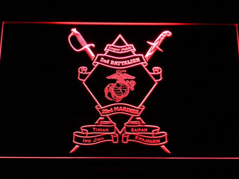 US Marine Corps 2nd Battalion 23rd Marines LED Neon Sign - Red - SafeSpecial