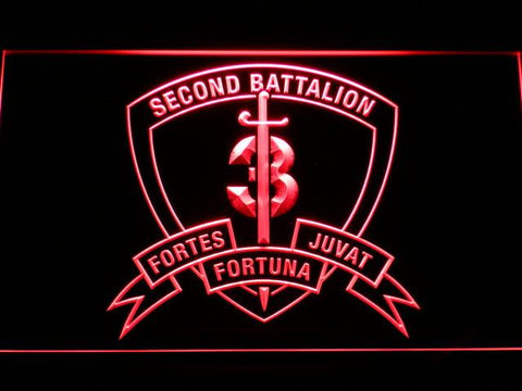 US Marine Corps 2nd Battalion 3rd Marines LED Neon Sign - Red - SafeSpecial