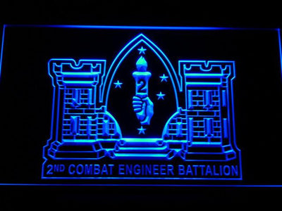 US Marine Corps 2nd Combat Engineer Marine LED Neon Sign - Blue - SafeSpecial