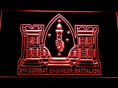 US Marine Corps 2nd Combat Engineer Marine LED Neon Sign - Red - SafeSpecial