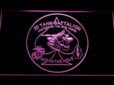 US Marine Corps 2nd Tank Battalion LED Neon Sign - Purple - SafeSpecial