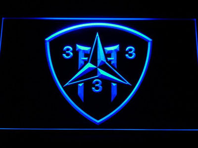 US Marine Corps 3rd Battalion 3rd Marines LED Neon Sign - Blue - SafeSpecial