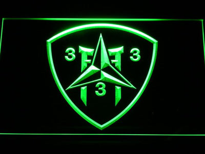 US Marine Corps 3rd Battalion 3rd Marines LED Neon Sign - Green - SafeSpecial