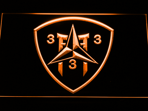 Image of US Marine Corps 3rd Battalion 3rd Marines LED Neon Sign - Orange - SafeSpecial