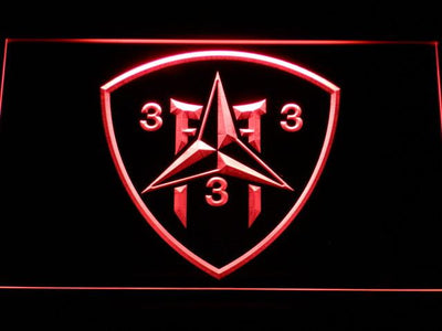 US Marine Corps 3rd Battalion 3rd Marines LED Neon Sign - Red - SafeSpecial