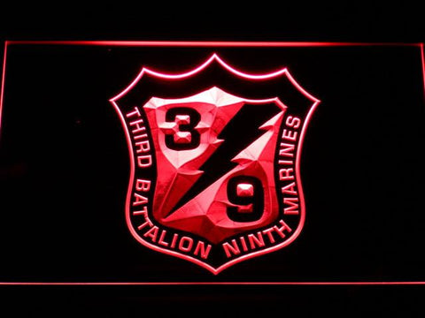 US Marine Corps 3rd Battalion 9th Marines LED Neon Sign - Red - SafeSpecial