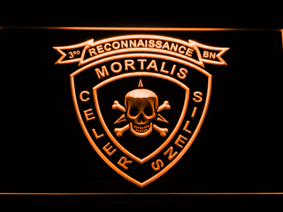 US Marine Corps 3rd Recon Battalion LED Neon Sign - Orange - SafeSpecial