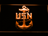 US Navy LED Neon Sign - Orange - SafeSpecial