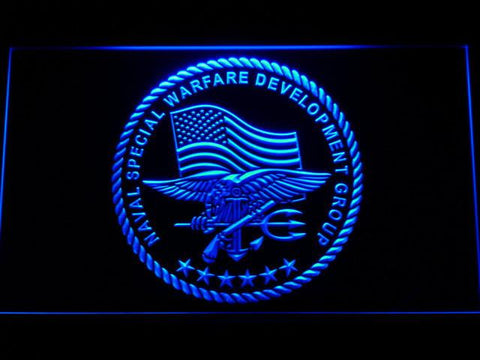 Image of US Navy SEAL LED Neon Sign - Blue - SafeSpecial