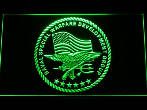 Image of US Navy SEAL LED Neon Sign - Green - SafeSpecial