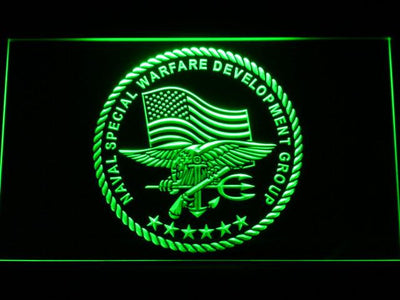 US Navy SEAL LED Neon Sign - Green - SafeSpecial