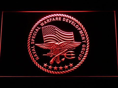 Image of US Navy SEAL LED Neon Sign - Red - SafeSpecial