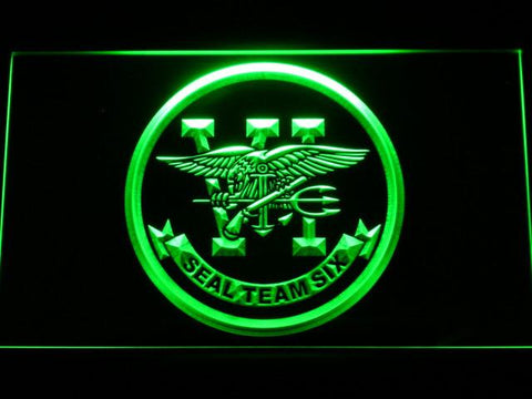 Image of US Navy SEAL Team 6 LED Neon Sign - Green - SafeSpecial