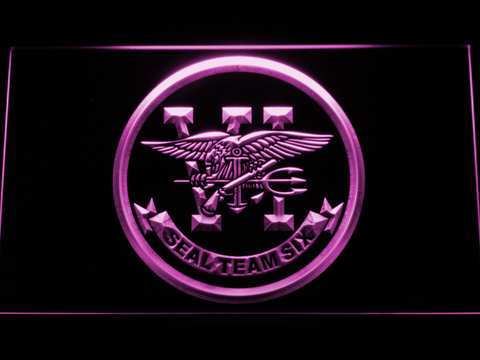 Image of US Navy SEAL Team 6 LED Neon Sign - Purple - SafeSpecial