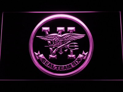 US Navy SEAL Team 6 LED Neon Sign - Purple - SafeSpecial
