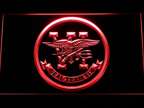 Image of US Navy SEAL Team 6 LED Neon Sign - Red - SafeSpecial