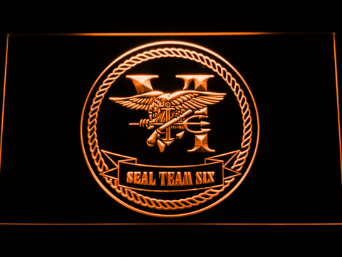 US Navy SEAL Team 6 Serif LED Neon Sign | SafeSpecial