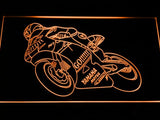 Valentino Rossi Motorcycle LED Neon Sign - Orange - SafeSpecial