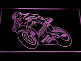 Valentino Rossi Motorcycle LED Neon Sign - Purple - SafeSpecial