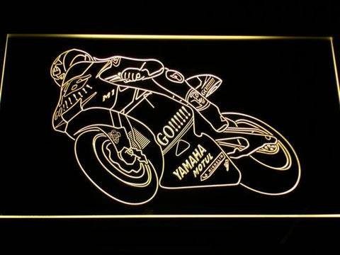 Valentino Rossi Motorcycle LED Neon Sign - Yellow - SafeSpecial