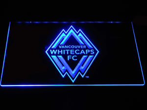 Vancouver Whitecaps FC LED Neon Sign - Blue - SafeSpecial