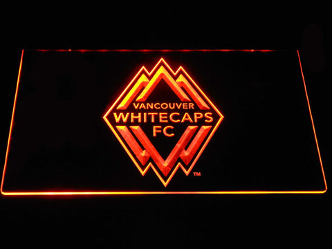 Vancouver Whitecaps FC LED Neon Sign - Orange - SafeSpecial