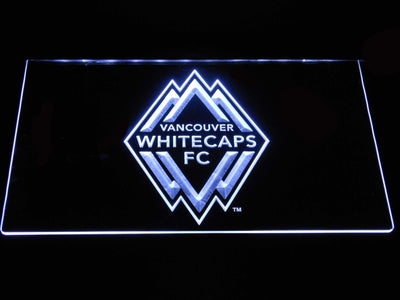 Vancouver Whitecaps FC LED Neon Sign - White - SafeSpecial