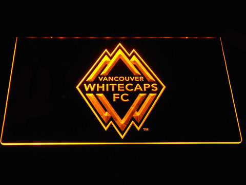 Vancouver Whitecaps FC LED Neon Sign - Yellow - SafeSpecial