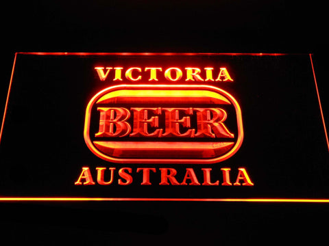 Image of Victoria Bitter Australia LED Neon Sign - Orange - SafeSpecial