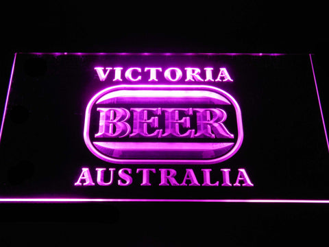 Image of Victoria Bitter Australia LED Neon Sign - Purple - SafeSpecial