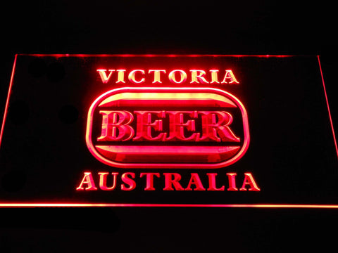 Image of Victoria Bitter Australia LED Neon Sign - Red - SafeSpecial