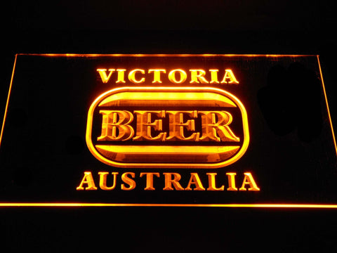 Image of Victoria Bitter Australia LED Neon Sign - Yellow - SafeSpecial